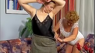 Granny bitch invites her lesbian friend while hubby is out