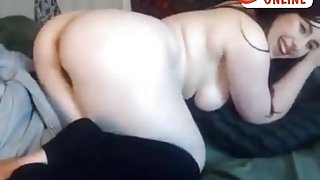 Alison princess! Blowjob toy and fuck pussy on webcam!