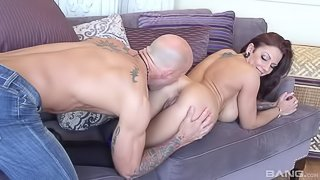 Lilith Lavey is a tattooed beauty with big tits that loves to swallow