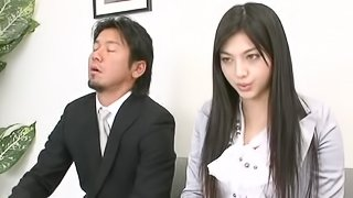Hot Ass model getting throbbed hardcore in the office
