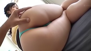 Spicy Japanese chick allowing the guy to play with her vagina